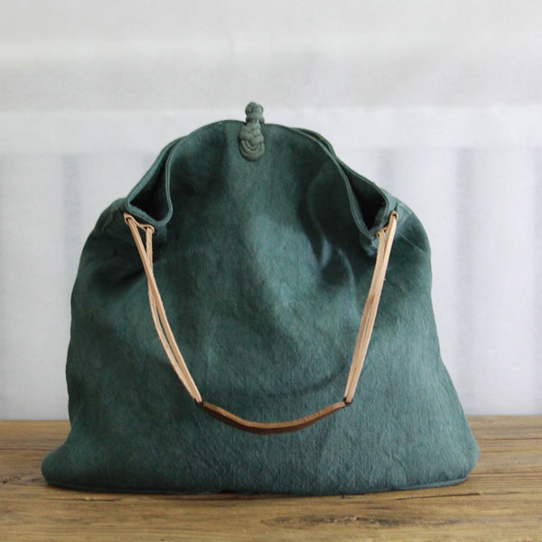 Handmade Button Casual Canvas Large Capacity Shoulder Bag