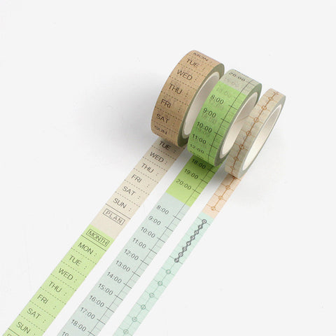 3pcs Time Measurement Tape