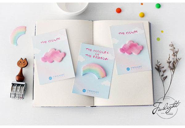4pcs Creative Rainbow&Cloud Series Sticky Note