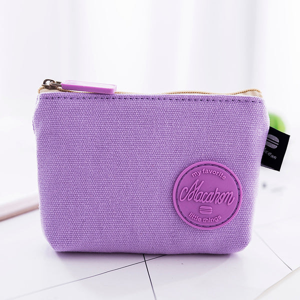 Macarons Color Mini Canvas Coin Purse