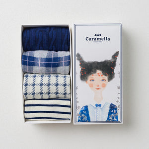 4 Pairs Preppy Style Cotton Gift Socks KINIYO Stationery