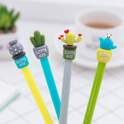 4pcs Cactus 0.5mm Gel Pen KINIYO Stationery