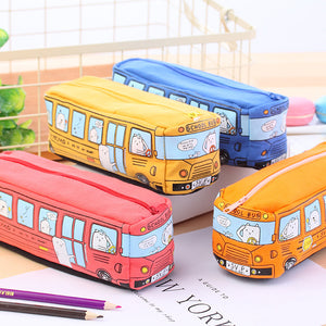1 Piece Bus Canvas Pencil Case
