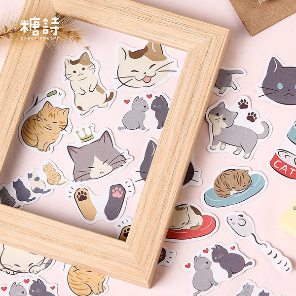 45pcs Pussy Daily Life Sticker Scrapbooking kiniyo stationary 3862p