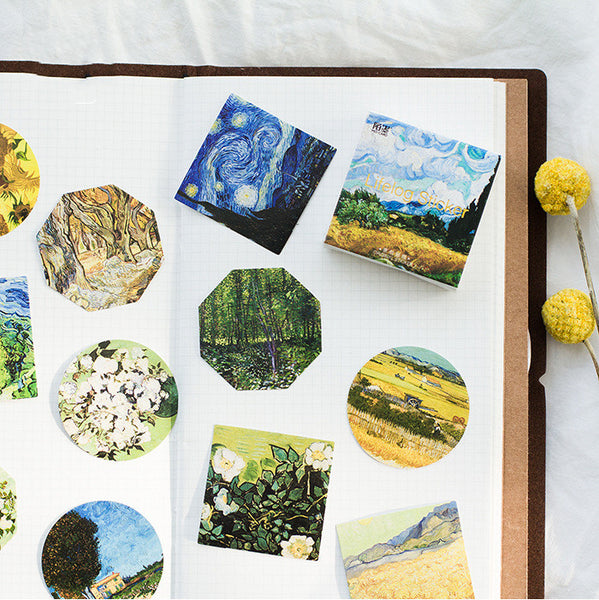 45pcs Van Gogh Series DIY Sticker+stationary5