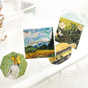 45pcs Van Gogh Series DIY Sticker+stationary1
