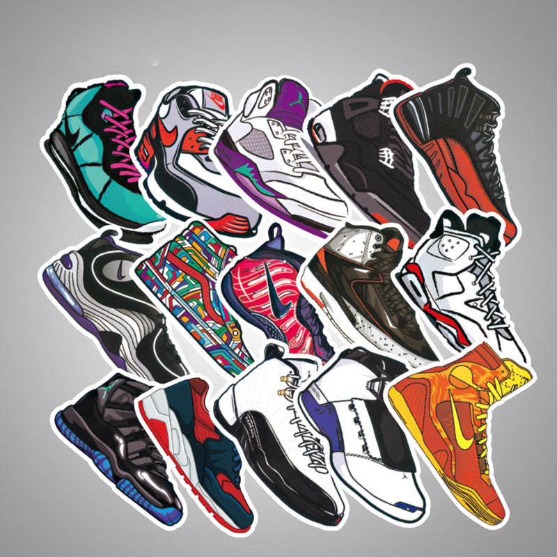 100pcs Sneakers Waterproof Sticker Bomb for Luggage Skateboard Guitar KINIYO Stationery