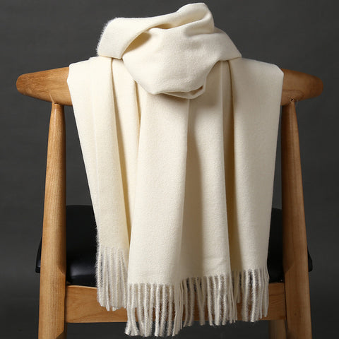 Pure Color Warm Cashmere Shawl Scarf