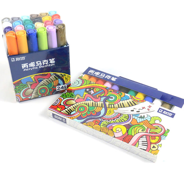 12/24pcs Painting Pen Marker & Highlighter KINIYO Stationery