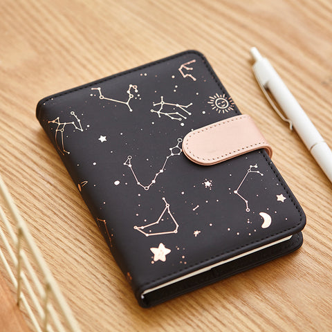 1 Piece PU Leather Cover Weekly Planner With Snap