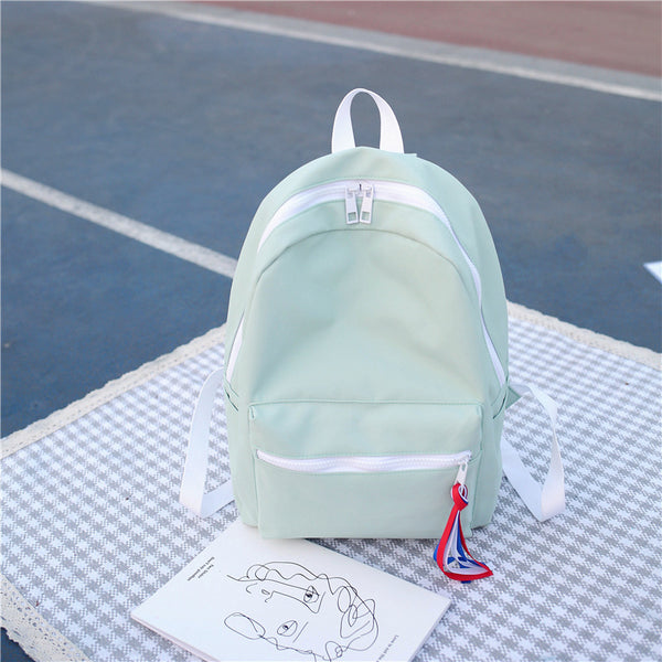 Colorful Large Capacity Zipper Backpack