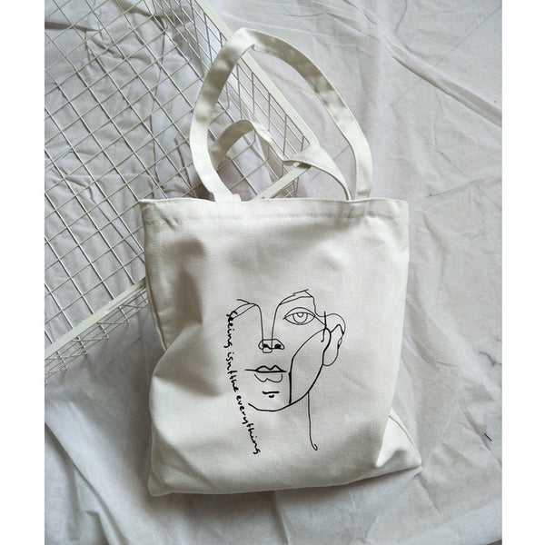 Abstract Figure Canvas Handbag