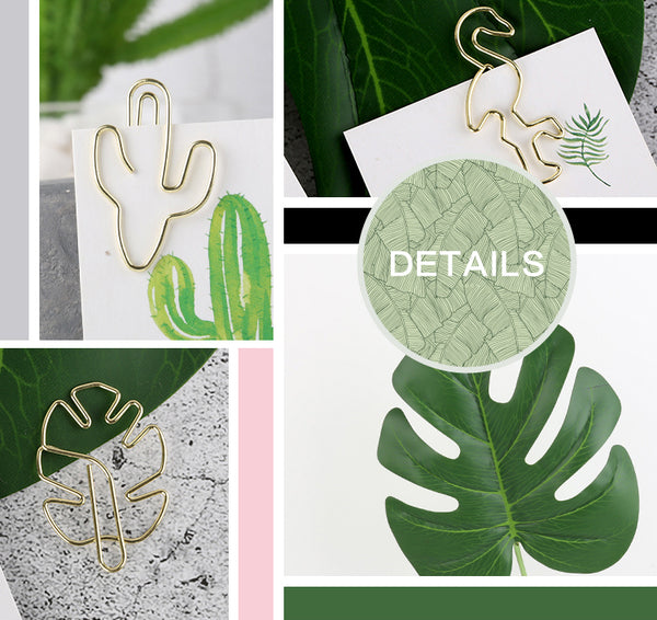 12pcs Green Plant Series Binder Clip KINIYO Stationery