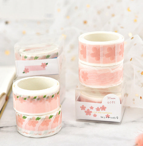 4pcs Separable Washi Paper Masking Tape kiniyo stationary 3822p