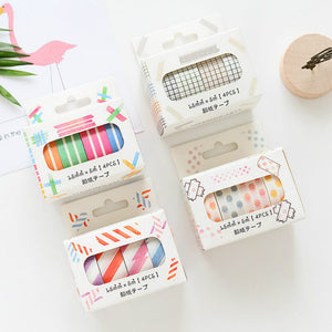 4pcs Basic Color Washi Masking Tape