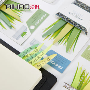 Grass Grow on Books Sticky Note