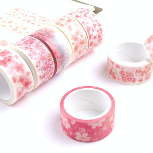 1 Piece Romantic Sakura Washi Deco Tape KINIYO Stationery