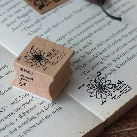 1 Piece Time Passphrase Wooden DIY Stamp KINIYO Stationery