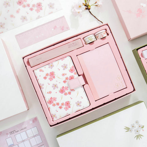 8pcs in 1 Set Sakura Planner Stationery Set