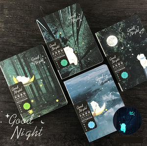 1 Piece Night Luminous Bear DIY Notebook