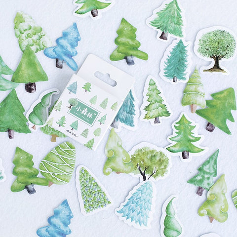 46pcs Decoration Tree Stickers KINIYO Stationery