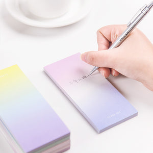 4pcs/set Gradient Color Writing Pad