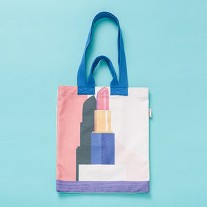 Lipstick Environmental Canvas Shoulder Bag KINIYO Stationery