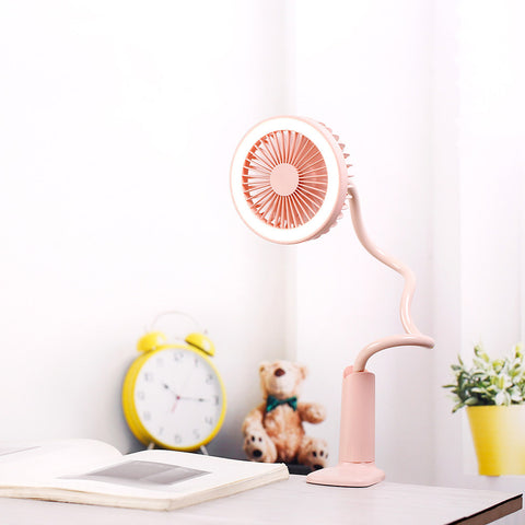 USB Night Light Tube Mini Fan