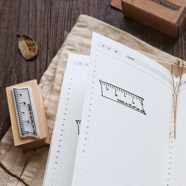 1 Piece Wooden Planner Decoration Stamp KINIYO Stationery
