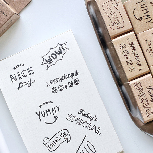 1 Piece Life Diary Wooden DIY Stamp KINIYO Stationery