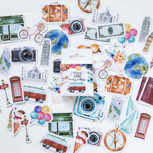 45pcs Travel Alone Series Sticker