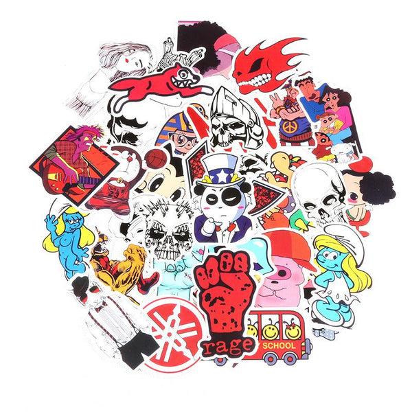 150pcs No-repeat Waterproof Sticker Bomb for Luggage Skateboard Guitar - aircoolerbox-[variant_title]