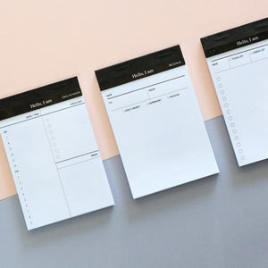 1 Piece Business Schedual Writing Pad KINIYO Stationery