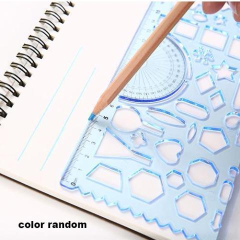 2pcs Multifunctional Drawing Ruler KINIYO Stationery