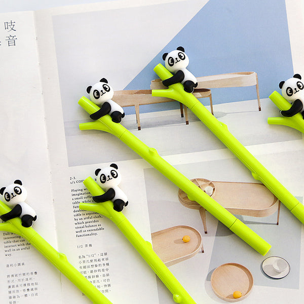 Panda on Bamboo Gel Pen