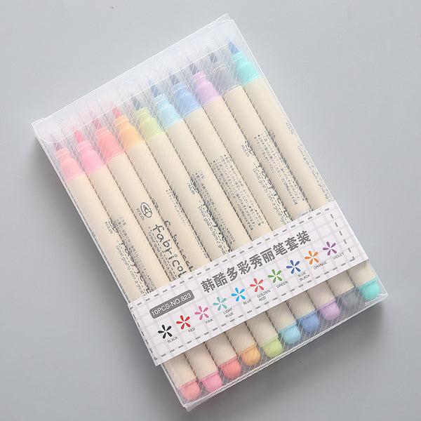 10pcs Soft Head Brush  Watercolor Pens KINIYO Stationery