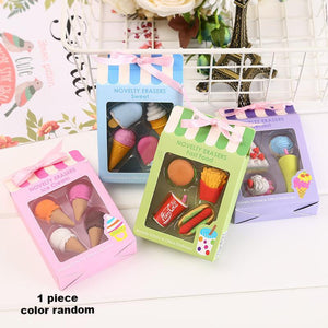 1 Piece Cake and Ice Cream Eraser KINIYO Stationery
