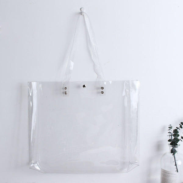 Transparent PVC Tote Shoulder Bag