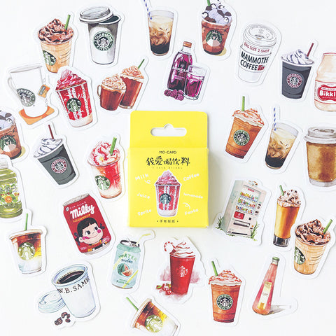 46pcs Love Drink Stickers KINIYO Stationery