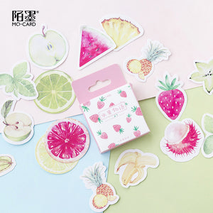 45pcs in 1 Box Vivid Fruit Stickers KINIYO Stationery