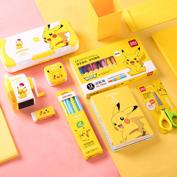 8in1 Pikachu Gift Stationery Set Writing & Drawing kiniyo stationary 3807p
