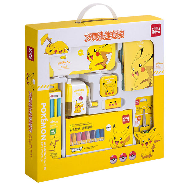 8in1 Pikachu Gift Stationery Set Writing & Drawing kiniyo stationary 3808p