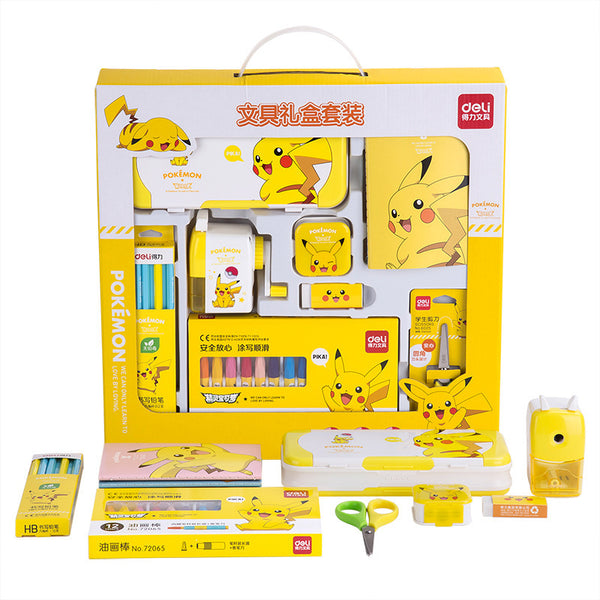 8in1 Pikachu Gift Stationery Set Writing & Drawing kiniyo stationary 3809p