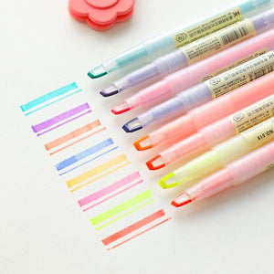 8pcs Acrylic Transparent Double-side Highlight Pens