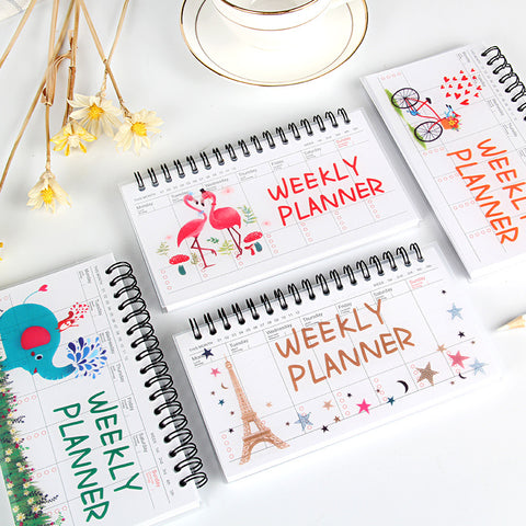 1 Piece Cartoon Weekly Plan Writing Pad