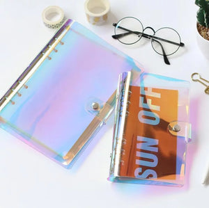 1 Piece PVC Loose-leaf Spiral Notebook Cover