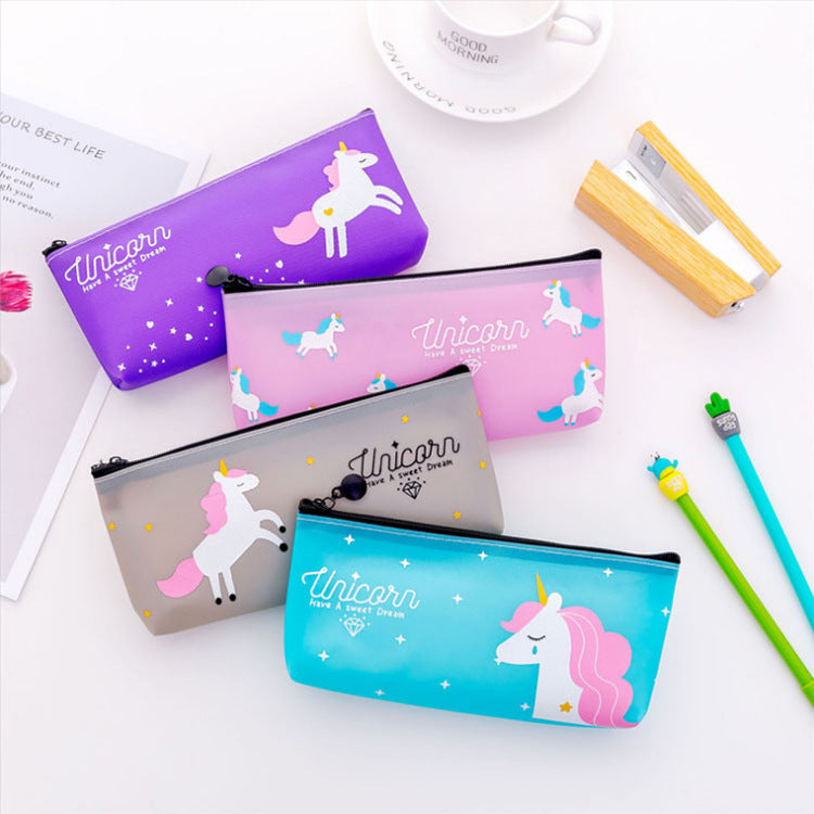 1 Piece PVC Unicorn Pencil Case KINIYO Stationery