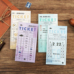 4pcs Ticket Series Writing Pads