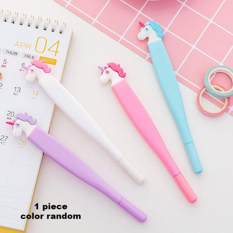 1 Piece Flat Unicorn Gel Pen KINIYO Stationery
