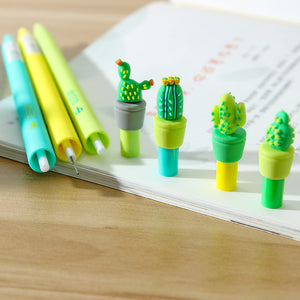4pcs 0.5mm Silicon Cactus Retractable Pencil KINIYO Stationery
